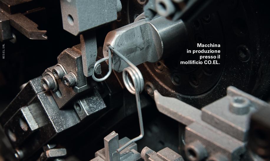 Macchine in produzione mollificio Co.El.